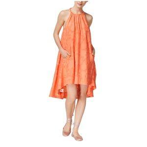 Rachel Rachel Roy orange high low hem dress